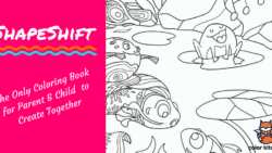 ShapeShift The Only Coloring Book Made for Parents and Child to work together