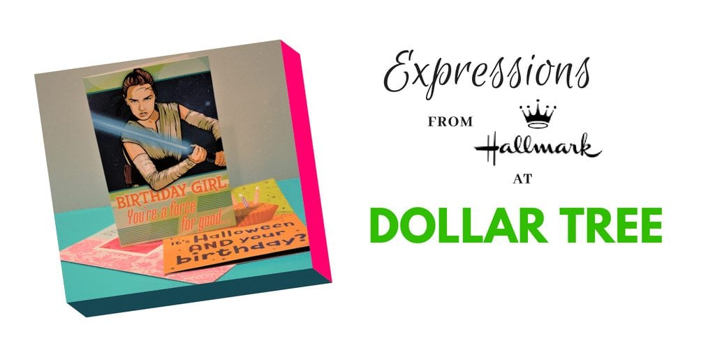 When it comes to birthdays supplies, holidays & mores, Dollar Tree is my go to store! Hallmark Expression Greeting cards to Dollar tree for just $1 each!