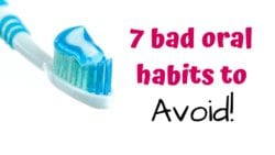 Your dental health is so important! Since it's tied to heart health, its so important to make sure these 7 bad oral habits to Avoid are known!