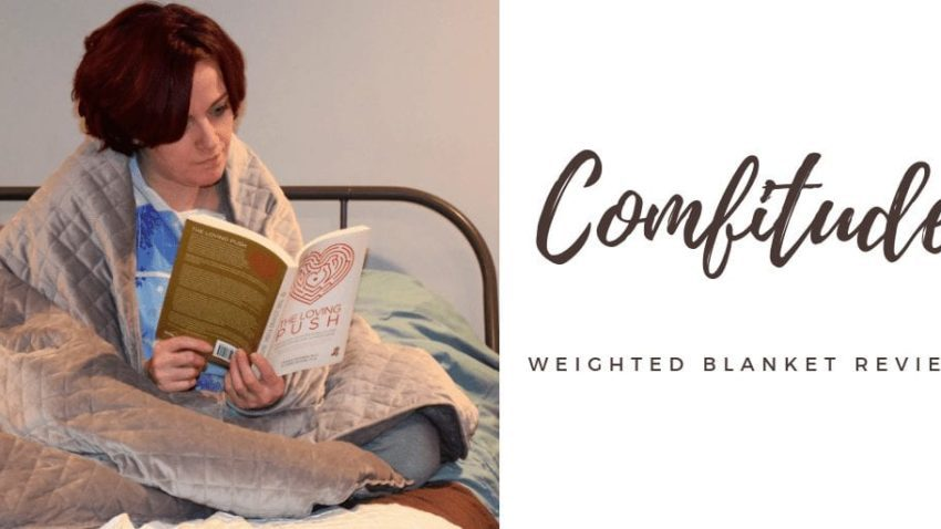 Weighted Blankets are the hot topic of the season this year! People are finding out the huge benefits of weighted blankets. Whether you are affected by anxiety, sleep issues, autism, adhd, or just really want to feel like you are sleeping in a hug, these weighed blankets are ideal! Today, check out our Comfitude Velvet Weighted Blanket Review. (Hint: I LOVED IT!) #autism #weightedblankets #productreviews