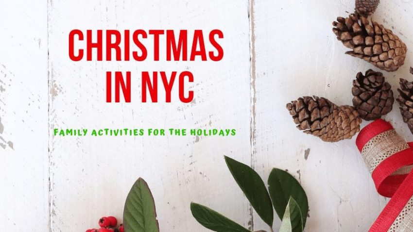 Looking at Things for Families to Do Over Christmas in NYC? Check out this awesome list of holiday ideas to do in New York City #nyc #traveltips #christmasinNYC #christmastravel #christmasactivities