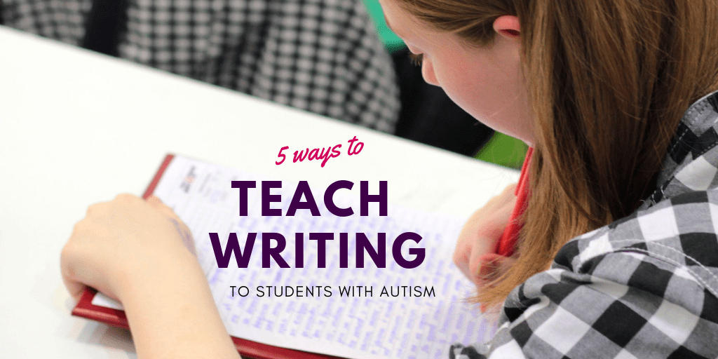 Learning writing is challenging for students on the autism spectrum because it requires motor planning, attention, coordination, muscle strength, organization, language skills, and sensory skills. Check out these 5 Ways to Teach Writing to Students with Autism.