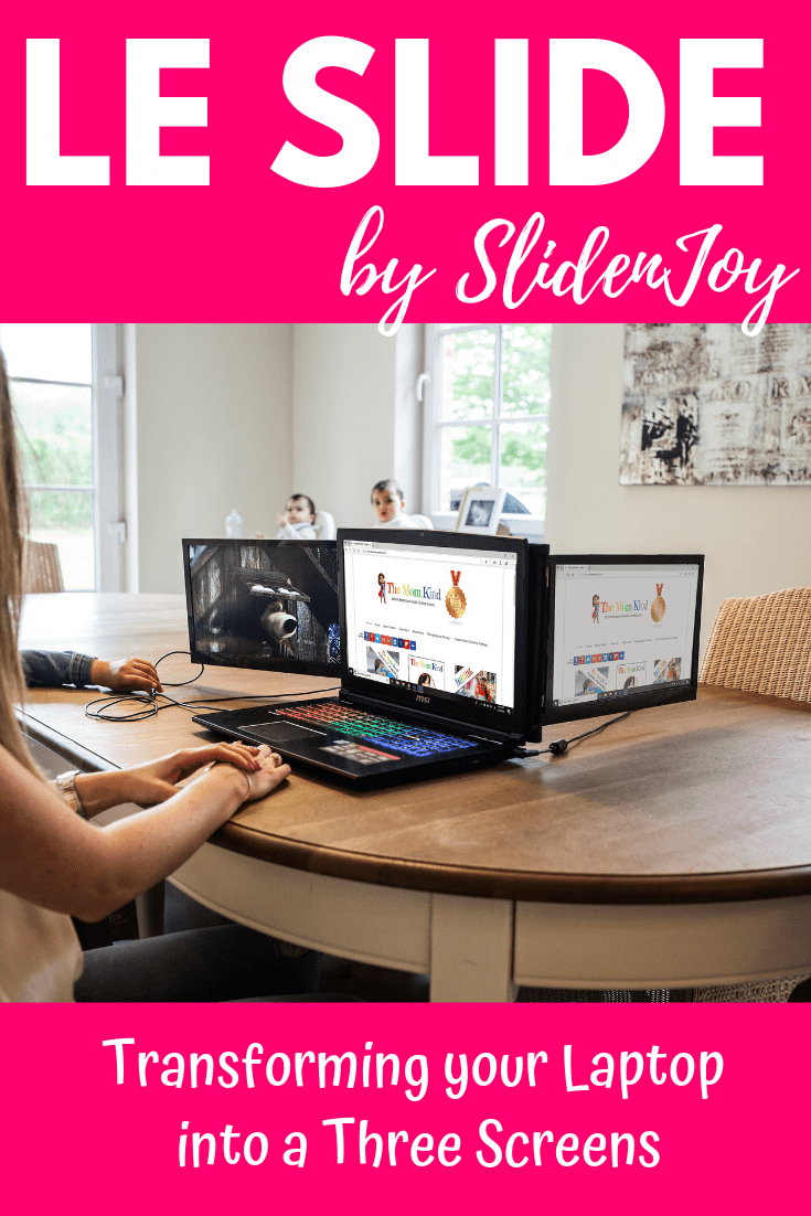 "Have you ever thought ""I just need more screens"" when working on your laptop? Me too!   Thats why I am super excited to tell you about Le Slide! Turn your Laptop into Three Screens with Le Slide by SlideNJoy.  Check out this post to access your coupon code for LeSlide to get 10% off your purchase!"