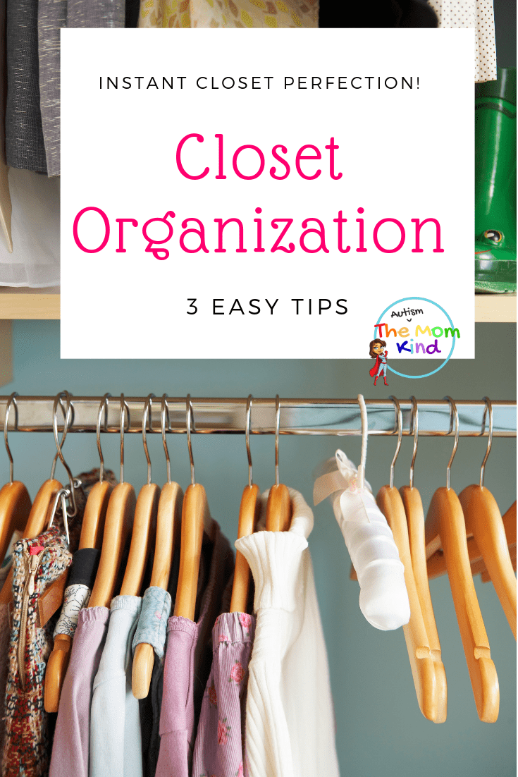 Closet Organization makes picking out the perfect outfit easier.  Instantly Improve Your Closet with These Organizational Tips!