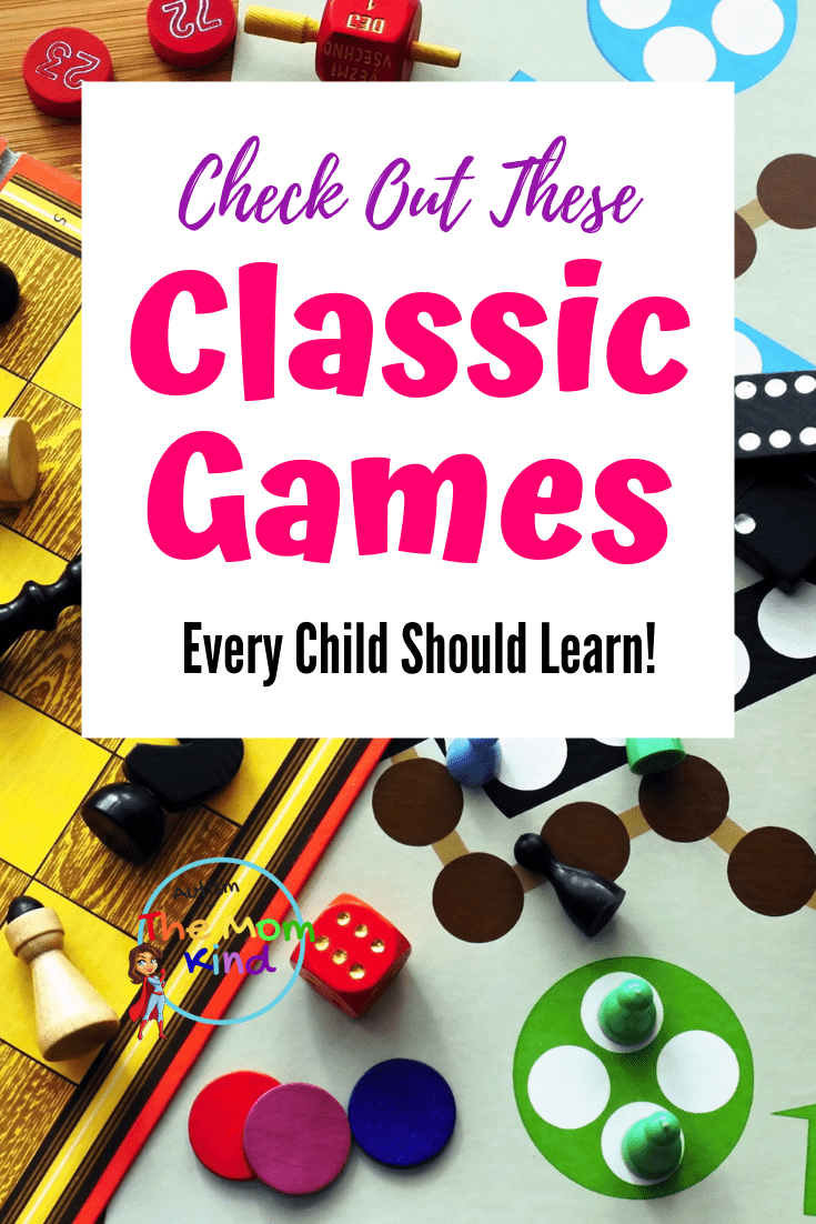 If you want your kids to get up and do something different, take a look below at some of these classic games that your kids should learn!  #playtime #parentingtips #parentingadvice #familygamenight #boardgames
