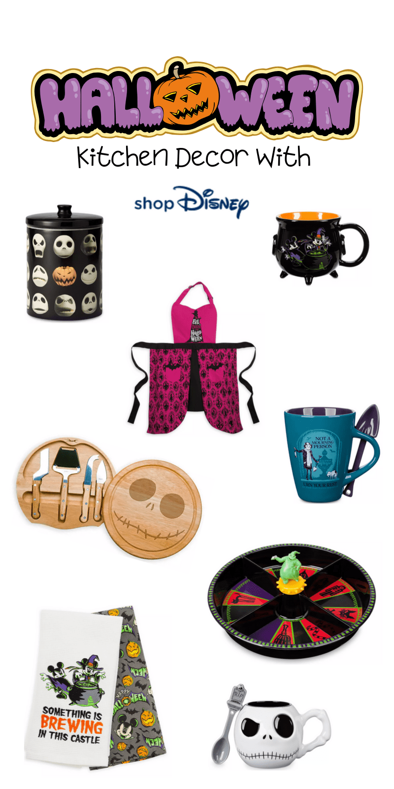 Here are the best in Disney Halloween Inspired Kitchen decor. This fantastic post rounds up the spooky and adorableness of ShopDisney's Halloween Collection for 2019.  #ad @ShopDisney #halloween2019 #disney #disneylove #disneymagic #waltdisney #disneyprincess #mickeymouse #disneyphoto #disneylife #disneyfan #mickey #disneyaddict #disnerd #starwars #halloween