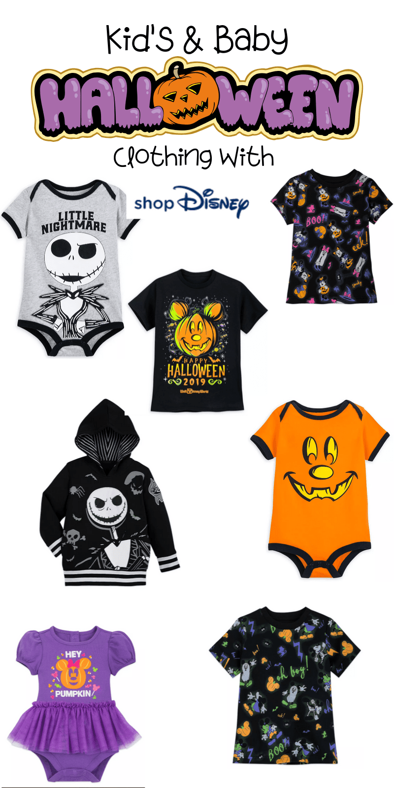 Here are the best in Disney Halloween Clothing for Kids & Babies. This fantastic post rounds up the spooky and adorableness of ShopDisney's Halloween Collection for 2019.  #ad @ShopDisney #halloween2019 #disney #disneylove #disneymagic #waltdisney #disneyprincess #mickeymouse #disneyphoto #disneylife #disneyfan #mickey #disneyaddict #disnerd #starwars #halloween