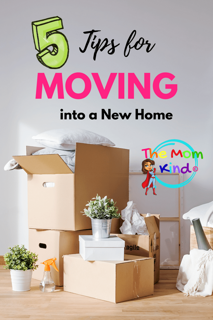When it comes time for the big move, these 5 Things To Do Before Moving To A New Home will set you up for success in your new house. #movingtips #movingday #newhome