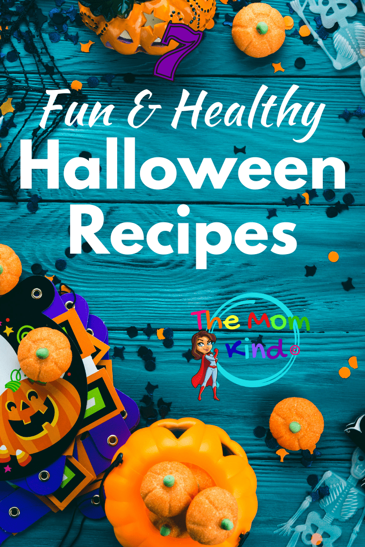 If you have been searching for Healthy Halloween Recipes, then you are in luck!  Check out these 7 delicious and guilt-free Halloween treats! #halloweenrecipes #halloweenparty #halloween