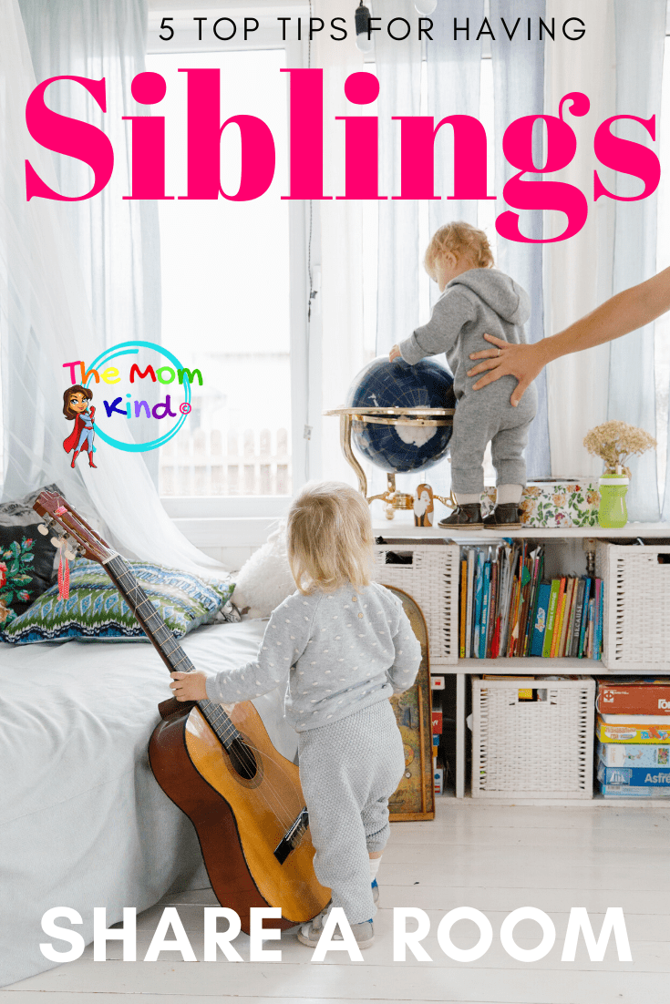 Part growing up with siblings are usually sharing a room with them. This does leave parents searching for Tips for Having Kids Share a Room.  #parentingtips #siblings