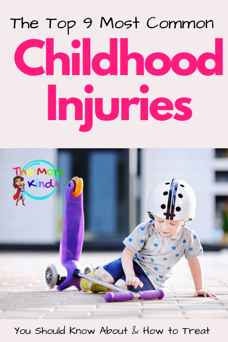 We all want to keep our children as safe as possible. Check out this list of some of the most common child injuries & how to prevent them. #parentingtips #parentingadvice #childhoodinjuries